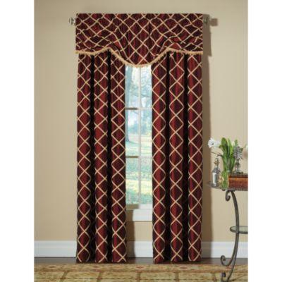 Designers' Select™ Francesca Rod Pocket 120-Inch Window Curtain Panel in Merlot