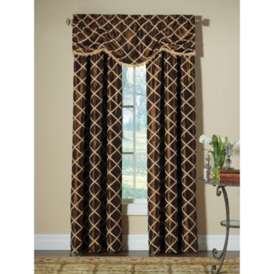Designers' Select™ Francesca Window Curtain Valance in Chocolate