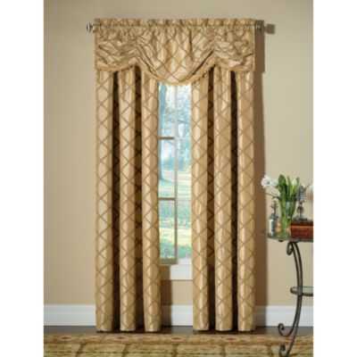 Designers' Select™ Francesca Rod Pocket 108-Inch Window Curtain Panel in Champagne
