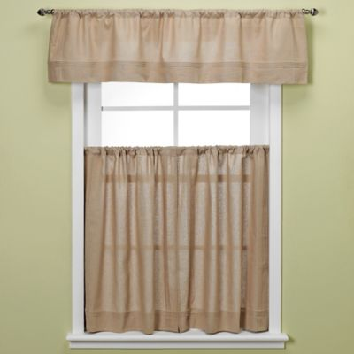 Maison 36-Inch Kitchen Window Curtain Tiers in Linen