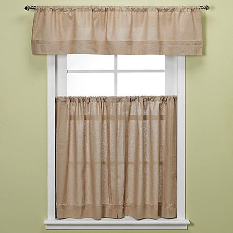 Buy Maison 36 Inch Kitchen Window Curtain Tiers In Linen From Bed Bath Beyond