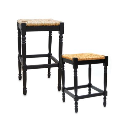 Carolina Chair & Table Antique Hawthorne Counter Stool in Black