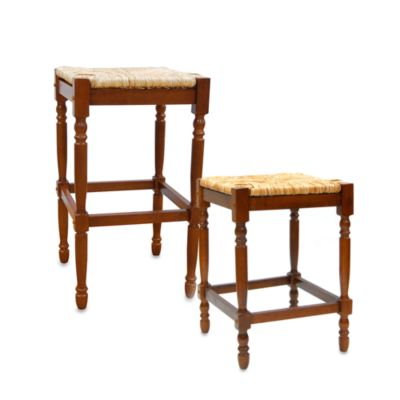 Carolina Chair & Table Company Antique Hawthorne Counter Stool in Walnut