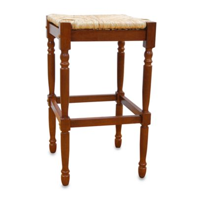 Carolina Chair & Table Antique Hawthorne Bar Stool in Walnut
