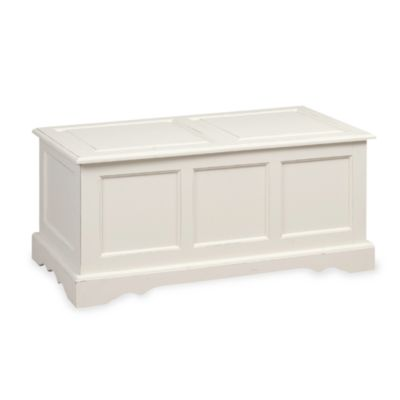 Carolina Chair & Table Company Antique Camden Blanket Chest in Ivory