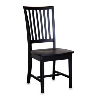 Carolina Chair & Table Company Cottage Hudson Dining Chair in Antique Black