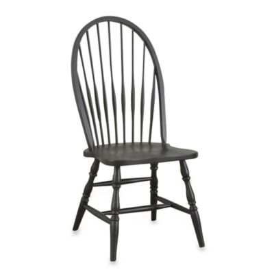 Carolina Chair & Table Antique Windsor Chair in Black