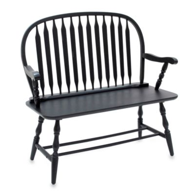 Carolina Chair & Table Windsor Bench in Antique Black