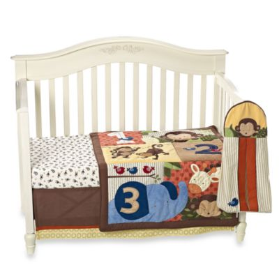kidsline™ Jungle 1,2,3 8-Piece Crib Bedding Set