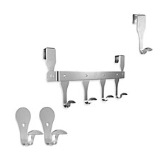 Self-Adhesive Hooks and Over-the-Door Hooks - Satin Nickel