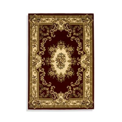 Ivory/Red Area Rugs
