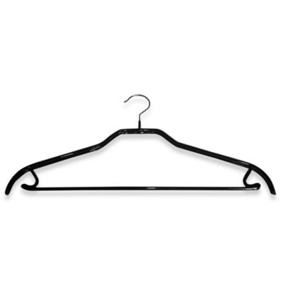 MAWA® Super Grippy Standard Hanger with Pant Bar in Black (Set of 12)