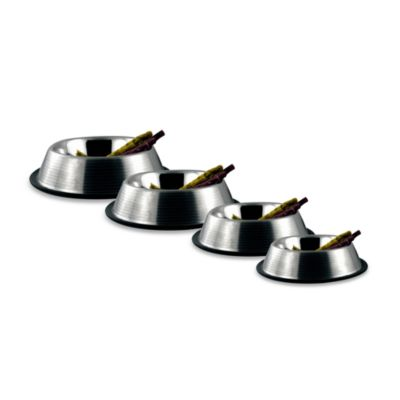Bergan® Stainless Steel Non-Skid/Non-Tip Ridged 9-Cup Pet Bowl