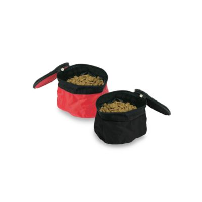 Bergan® Short Trip™ Small Travel Bowl in Black