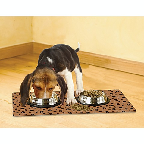 Drymate® Small Dog Bowl Place Mats with Paw Imprint