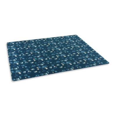 Drymate® Small Cat Litter Box Mat with Dark Blue PawCasso Design