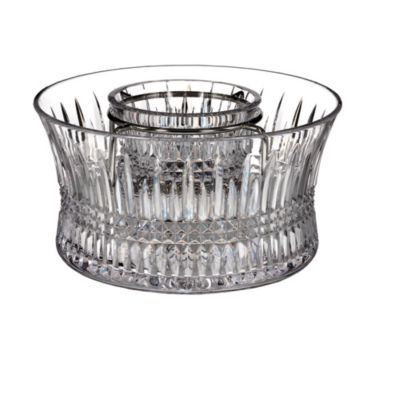 Waterford® Lismore Diamond Caviar Server with Silver Insert
