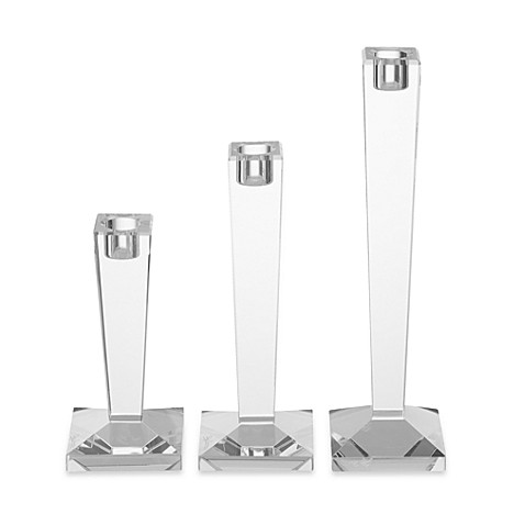 Oleg Cassini Alanna 3-Piece Candle Holder Set