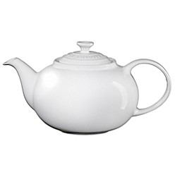 Traditional Teapot In White by Le Creuset
