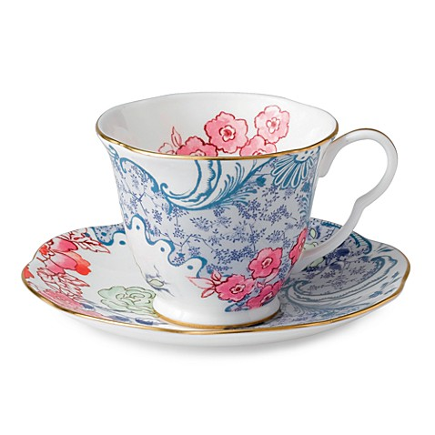 Wedgwood® Butterfly Bloom Spring Blossom Cup & Saucer