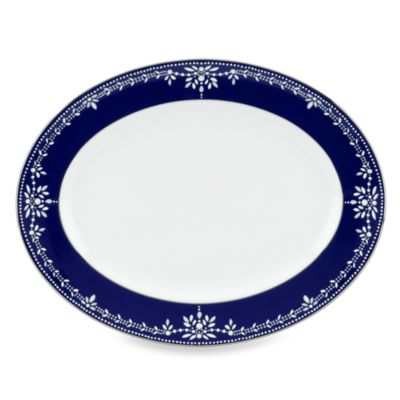 Marchesa by Lenox® Empire Pearl Indigo 13-Inch Oval Platter