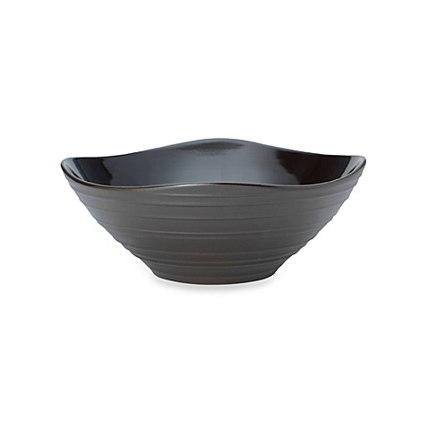 Mikasa® Swirl Square 72 oz. Square Vegetable Bowl in Chocolate