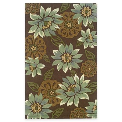Sphinx™ by Oriental Weavers Utopia Area Rug in Brown/Blue Blossom