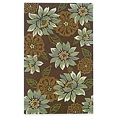 Oriental Weavers Utopia Area Rug in Brown/Blue Blossom