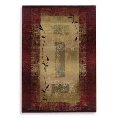 Oriental Weavers Generations Red/Climbing Vine Area Rug - 2-Foot 3-Inch x 4-Foot 5-Inch
