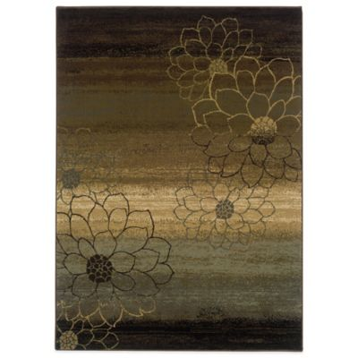 Oriental Weavers Hudson 3-Foot 10-Inch x 5-Foot 5-Inch Area Rug in Brown
