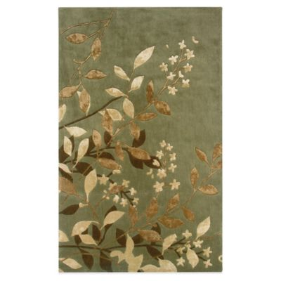 Oriental Weavers Utopia 5-Foot x 8-Foot Area Rug in Green/Eden Earth