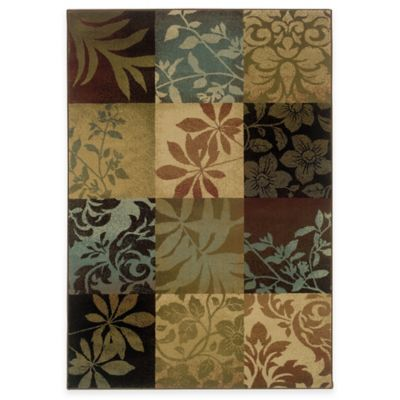Sphinx™ by Oriental Weavers Hudson Area Rug in Multi/Floral Squares
