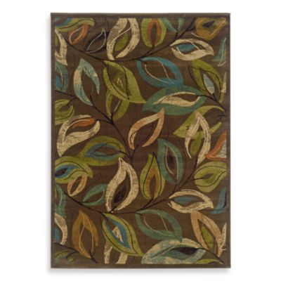 Oriental Weavers Emerson 3-Foot 10-Inch x 5-Foot 5-Inch Area Rug in Multi/Leaves