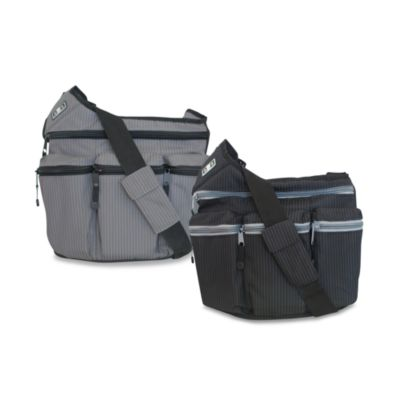 Diaper Dude® Original Style Diaper Bag in Retro Black Pinstripe