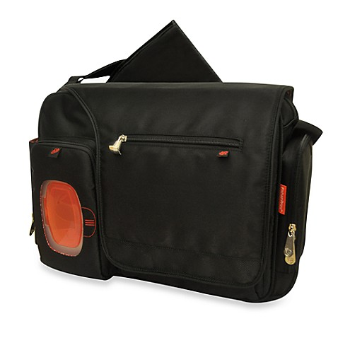 Fisher-Price® FastFinder™ Messenger Diaper Bag in Black