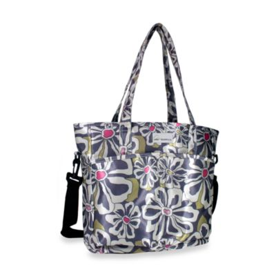 Amy Michelle™ New Orleans Charcoal Floral Diaper Bag