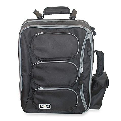 Diaper Dude® Convertible Messenger Backpack in Black