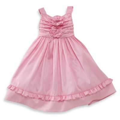 Dorissa Nancy Shantung Vintage Dress in Pink