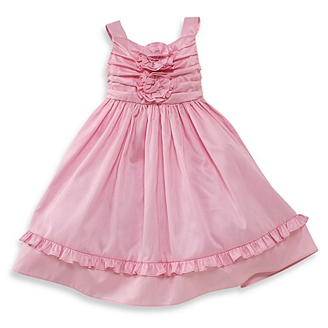 Nancy Pink Shantung Vintage Dress - 12 Months