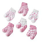 My Baby Pinks Size 0 to 12 Months Socks by Elegant Baby (Set of 6)
