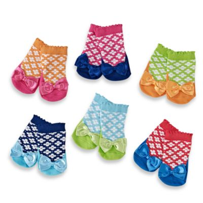 Silly Sophie Socks by Elegant Baby in 0-12 Months (Set of 6)