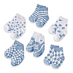 My Baby Blues Size 0 to 12 Months Socks by Elegant Baby (Set of 6)