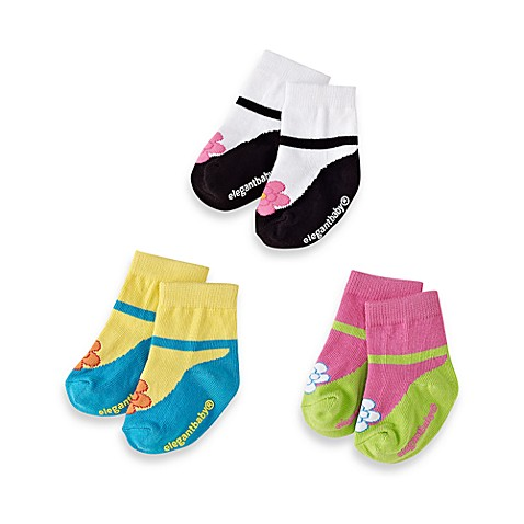 Elegant Baby® Size 0-12M Ankle Janes (Set of 3)