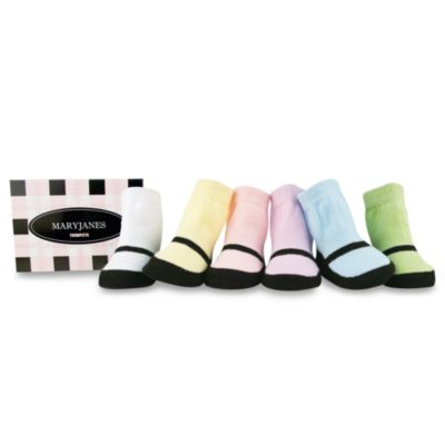 Trumpette Mary Jane Size 0 to 12 Months Socks (Set of 6) in Pastel