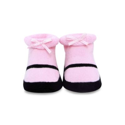 Trumpette Maryjane Size 0 to 6 Months Booties in Pink and Black