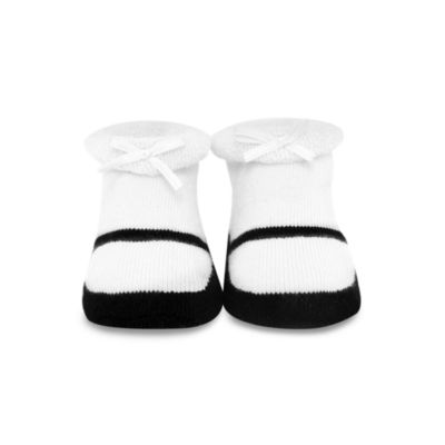 Trumpette Maryjane Size 0 to 6 Months Booties in White and Black