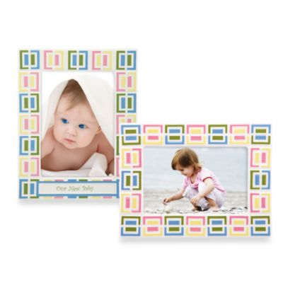 Gorham® Pitter Patter Our New Baby 5-Inch x 7-Inch Picture Frame