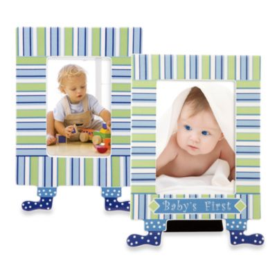 Gorham® 4-Inch x 6-Inch Little Boy Blue Baby's First Picture Frame with Feet