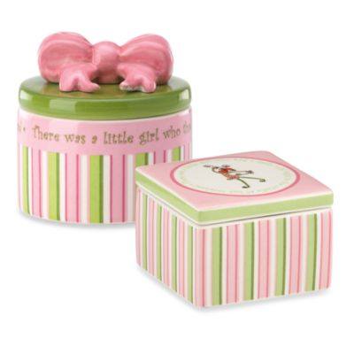 Gorham® Little Girl with a Curl Round Trinket Box