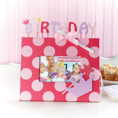Mud Pie™ Birthday Princess Autograph 4-Inch x 6-Inch Frame